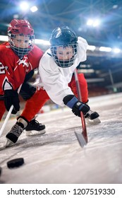 ice hockey sport young childrens players