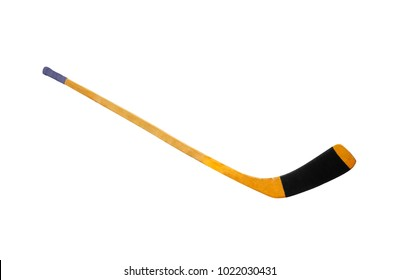 Ice hockey stick isolated on white background