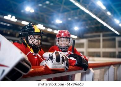 Ice hockey youth boys players