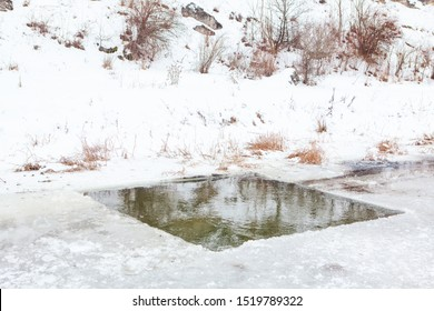 ice hole for winter bathing