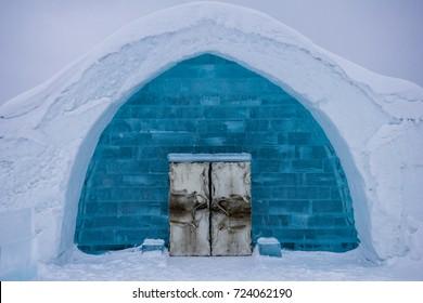 Ice hotel in Lapland, Sweden