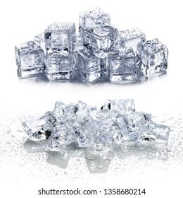 ice isolated on white background