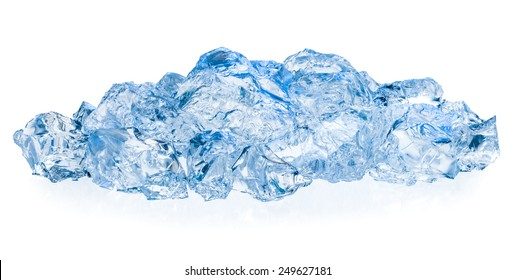 Ice isolated on white background