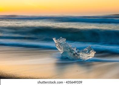 Ice jewel in the sunrise