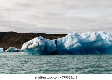 Ice of Jokulsarlon, a large glacial lake in southeast Iceland, Vatnajokull National Park