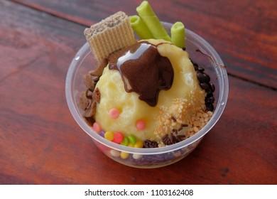 Ice kepal durian indonesia culinary