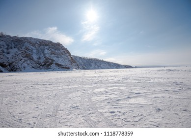 The Ice of Lake Baikal, Russia Mar 2018