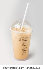 Ice latte on white background, Ice Coffee