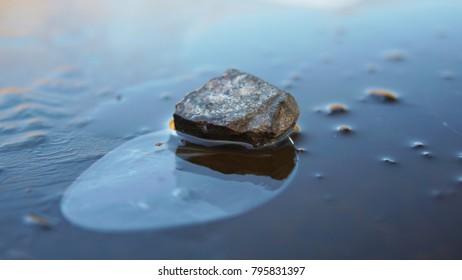 Ice layer on Lough Key, Roscommon