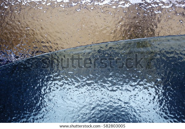 ice on the frozen glass texture