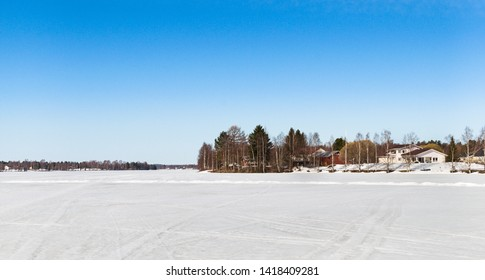 Ice on the river near Rovaniemi