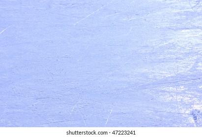 ice on skating rink