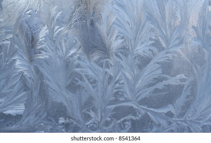 Ice on window as abstract pattern