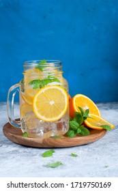 ice orange mojito style beverage