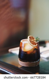 Ice Oranges infused cold brew coffee