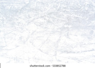 Ice rink background after a skating contest on winter time
