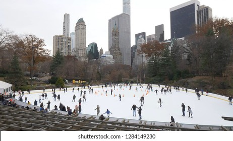Ice Rink at Central Park in winter
