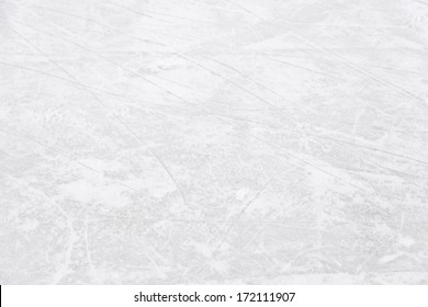 Ice rink floor, detail of a textured background ice, sport