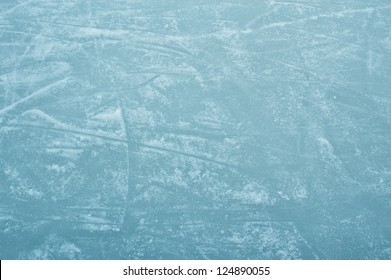 ice rink with scratches texture as a background