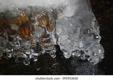 Ice at the river