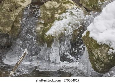 Ice river valley, Switzerland