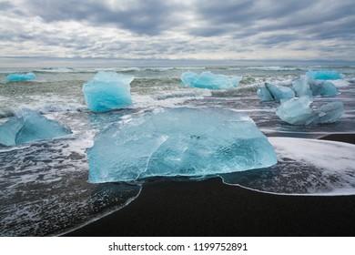 Ice Rocks at Diamond Beach, Iceland