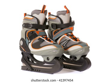 Ice skate isolated on the white background