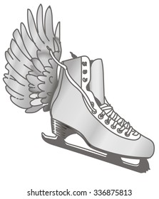 Ice skate with wing