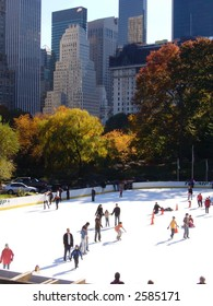 Ice Skating in Central Park in Autumn