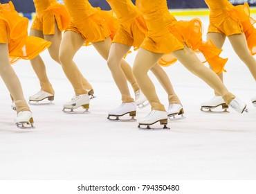 ice skating on ice
