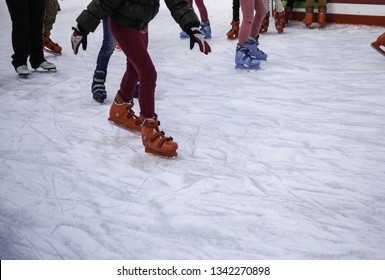 Ice skating, winter sport detail