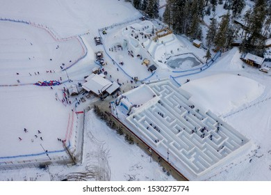 Ice and snow maze, best winter attraction for visitors Zakopane.