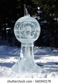 ice statue of Liberty, Sculptures made of ice - High Tatras - Slovakia 2017,