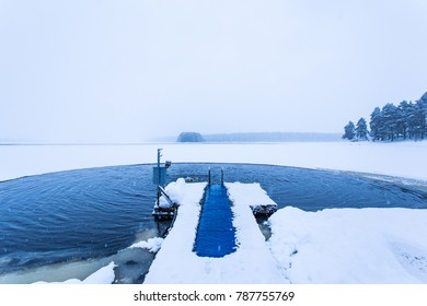 Ice swimming place from Kuhmo, Finland.