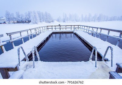 Ice swimming place from Sotkamo, Finland.