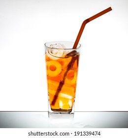 ice tea on isolated background