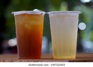 ice tea and ice orange