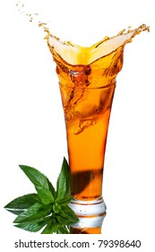 Ice tea with splash