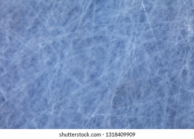 ice texture on the rink in winter