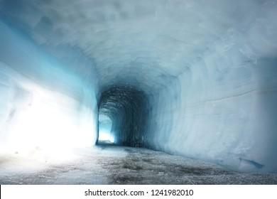 Ice tunnel in Langjökull, Iceland