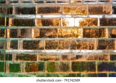 Ice wall at night