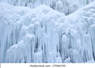 ice wall in winter
