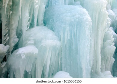 The ice waterfall
