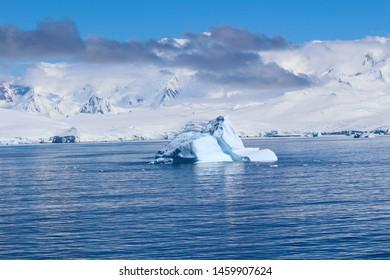 An iceberg among the islands around the Antarctic peninsula, Antarctica