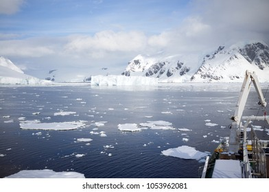 Iceberg at the Antarctic circle