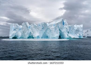 Iceberg in Antarctica sea. Port Lockroy. Expidition