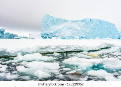 Iceberg of Antarctica, South Pole.