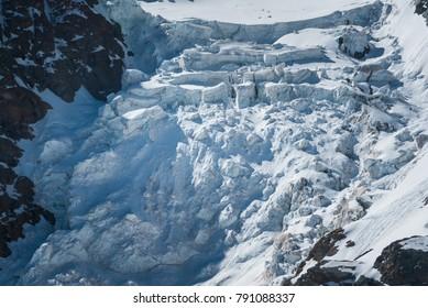 iceberg avalanche at Matterhorn mountain