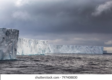 Iceberg B-15T, which measures 52 kilometers (32 miles) long and 13 kilometers (8 miles) wide. Once part of Iceberg B-15 the largest iceberg in history.