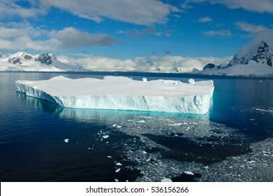 Iceberg in the fiords of Antarctica,
